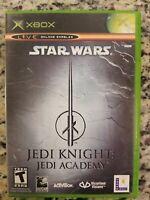 Star Wars Jedi Knight - Jedi Academy - CIB - Great Cond. (Microsoft Xbox, 2003)