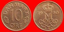 Valuta di 10 Ore 1980 Danimarca