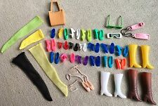 Vintage Barbie Shoes Lot Japan Taiwan Squishy Bow Flats Open Toed T-Strap Boots