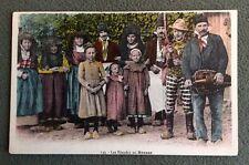 Carte Postale. LES EBAUDES en BRESSE. 71 - Folklore. Costumes. Musique. Vielle?