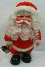 Christmas Santa Claus Walking Bell Ringing Animated Music Vintage See Video