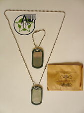 US Army Erkennungsmarke Dog Tags mit Silencer Dogtag Hundemarke BW Kette Tag
