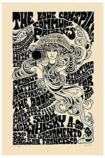 Rock: Jim Morrison & The Doors at San Francisco Concert Poster 1967  13x19
