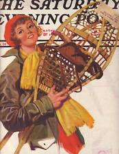 1936 Saturday Evening Post  - February  8 - Snow shoe cover by Starrett
