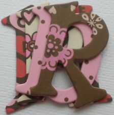 Bo Bunny - CRAZY LOVE - Valentine Chipboard Alphabet Letters