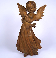 Ancien ange crèches personnage Bergmann oberammergauer sculpture carved wood Angel