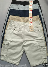 Levi's Cargo Mens Shorts 100%  Genuine 6-Pocket Pure Cotton Herringbone Shorts