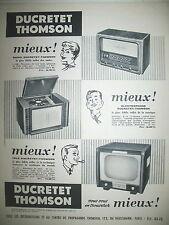 PUBLICITE DE PRESSE DUCRETET THOMSON TELEVISION RADIO ELECTROPHONE AD 1955