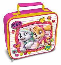 Paw Patrol Lunch Bag Girls Rectangle Pink Gift Fun Official Licensed Product