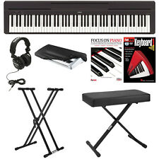 Yamaha P45B Digital Piano w/ Bench, Stand, Headphones, Dust Cover, & Starter Kit