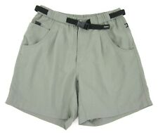 Vintage Mens Columbia Nylon GRT Belted Pleated Shorts Olive Green MED Fits SMALL