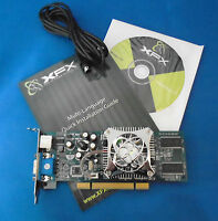 New boxed NVIDIA XFX GeForce FX5200 Low Profile 128MB PCI Video Graphics Card