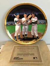 GREATEST CENTERFIELDERS SPORTS IMPRESSIONS COLLECTOR PLATE MANTLE MAYS SNIDER