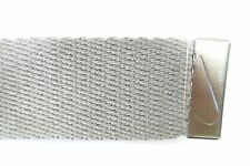 NIKE GRAY 1.5 WIDTH ONE SIZE MILITARY STYLE WEBB CANVAS BELT STRAP MENS NEW