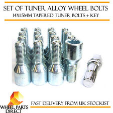 Set of 16 14x1.5mm 14x1.5 Tuner Drive Sparco SD Alloy Wheel Bolts + Nuts Key