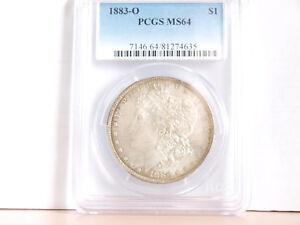 1883 O United States Morgan Silver Dollar Coin (90% silver) PCGS MS64