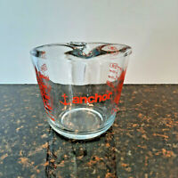 Anchor Hocking 16 oz. ~ 2 Cups Glass Measuring Cup Red Lettering