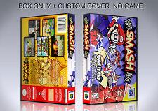 SUPER SMASH BROS. ENGLISH. Box/Case. Nintendo 64. BOX + COVER. (NO GAME).