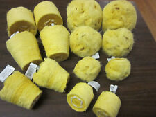 14pc BUFFING POLISHING YELLOW HARD CLOTH JUMBO BUFFS MUSHROOM CYLINDER CONE CM13