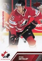 13-14 UD TEAM CANADA EXCLUSIVES RED  ERROR CARD NOT NUMBERED RYAN GETZLAF NO:76