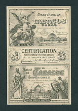 Certification of Fine Tobacco on Original Antique Cigar Box Label Vintage Art