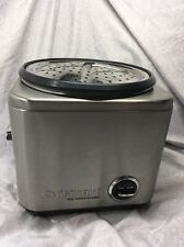 Cuisinart Rice Cooker Steamer CRC-800 8-Cup Silver with Lid & Steam Colander