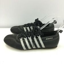 K Swiss Trainers UK 6 Women Black Stitched Leather Lace Up Casual Shoes 261012