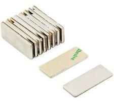 Lot 50 100 25x10x2mm Block Magnets  Adhesive Backed Neodymium Rare Earth N50