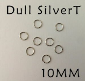 50x Open Jump Ring Dull Silver Tone 1cm Round 10mm Split Rings Connector 20x DIY