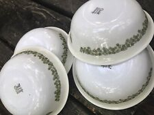 """LOT of 4 CEREAL SOUP SALAD BOWLS 6 ¼"""" in the Corelle Green SPRING BLOSSOM"""
