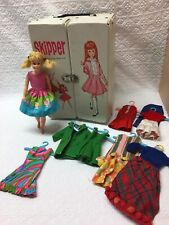 Vintage Skooter Doll with Bendable Legs Plus Skipper Case with Skipper clothing