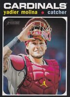 2020 TOPPS HERITAGE SP YADIER MOLINA ST. LOUIS CARDINALS - Y1710