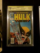 Incredible Hulk 340 CBCS 7 Signed Stan Lee Todd McFarlane Newsstand ? CGC 9.4 ?