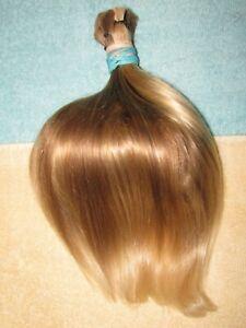 HUMAN HAIR HAIRCUT 11.5 INCH BABY FINE BLONDE BLEND PONYTAIL REBORN DOLLS P61