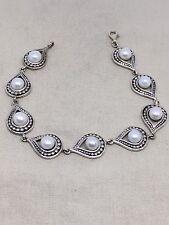 Sterling Silver Pearl Bracelet Signed CFJ. SA2-21