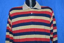 vintage 8 00004000 0s Weldon Striped Night Sleeping Poly Sleep Pajamas Shirt Large L
