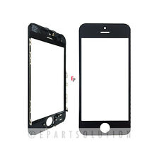 iPhone 5 Front Glass Outer Lens Touch Screen Cover With Frame Bezel Black Color