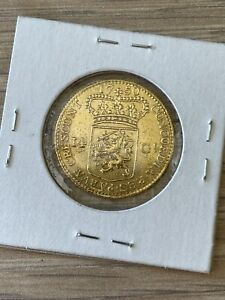 1750 Netherlands Gold 14 Gulden (Repaired From Jewelry) 100% Original
