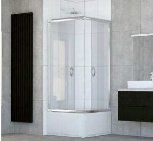 CORNER SQUARE SHOWER CABIN- DEEP TRAY 800mm x 800mm CLEAR GLASS