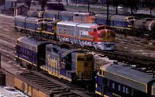 Santa Fe locomotives at San Bernardino Yard  train railroad postcard