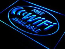 Free WiFi LED Sign Internet Access Cafe