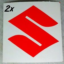 Suzuki S Logo neon Red 450 decals 1000 sticker 1100 gsxr 85 rmz 600 gsxs 750 drz