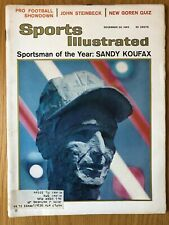 1965 Sports Illustrated  SANDY KOUFAX Los Angeles Dodgers  Sportsman Of The Year