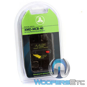 JL AUDIO XMD-MCB-40 AMP CAR MARINE BOAT WATER-PROOF AMPLIFIER CIRCUIT BREAKER