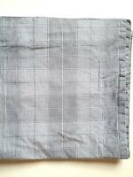 Eddie Bauer King Sham~ Cotton~White Black Plaid