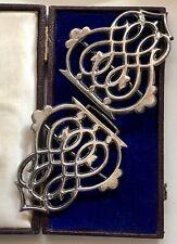 More details for vintage antique nurses belt silver buckle hallmarked