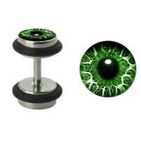 Auge Fake Plug Silber Stahl - Ohrstecker Fakeplug Aus Edelstahl  Ohr Fake Flesh
