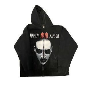 Vintage Marilyn Manson 2003 Sweatshirt Hoodie Giant Medium