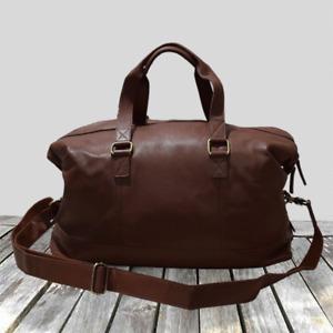 Genuine Leather Travel Bag, Gym Duffel Shoulder Handbag Bag 65-ST&M