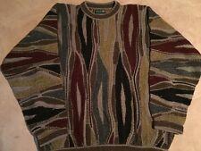 Authentic COOGI Australia Sweater Multicolor Mens Sz Large Vintage Cosby Biggie